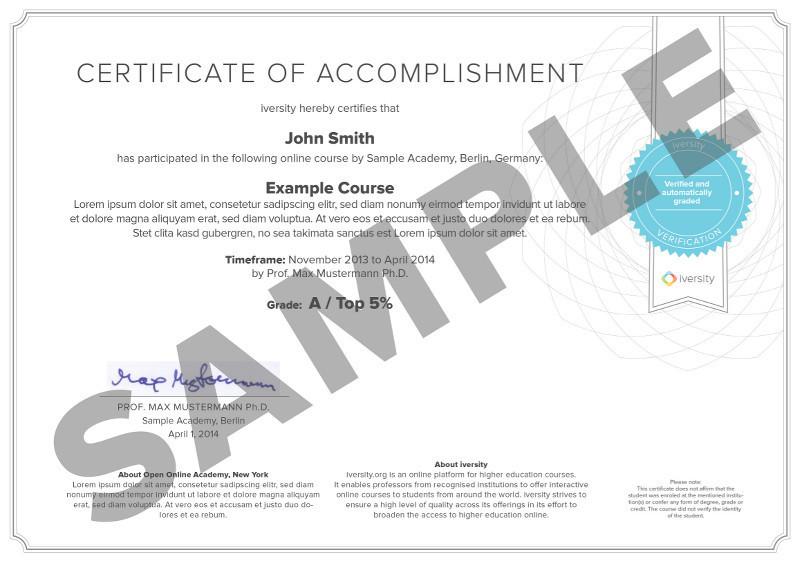 Certificate Bundle - iversity